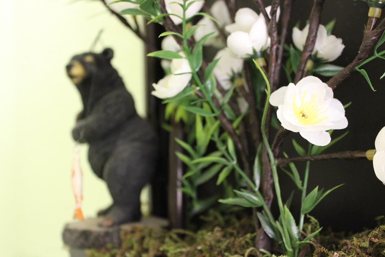 oso pescando ramas led